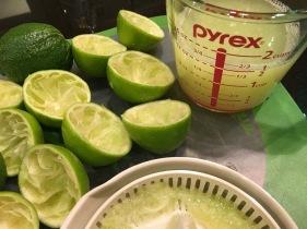 fresh lime juice - 6 limes!